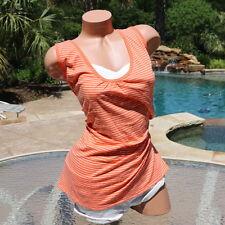 NWT Lot of 2 JMS Just My Size Women 26-28 4X Plus Orange White Stripe Tank Top