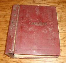 1933-1955 Carter Carbureter Parts & Service Manual Chevrolet Buick Dodge
