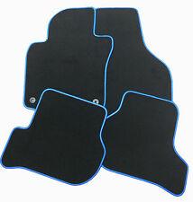 Für Dacia Duster ab 1.18  Fußmatten Velours Deluxe schwarz mit Kunstleder blau