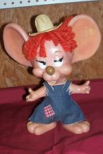 Old Roy Des of Fla '70 Hillbilly Mouse Piggybank Coin Money Bank Vintage Toy RDF