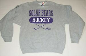 Orlando Solar Bears IHL International Hockey League Gray Sweatshirt Mens L New