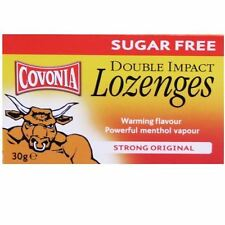 Covonia Sugar Free Double Impact Lozenges Strong Original 30g - 6 Pack