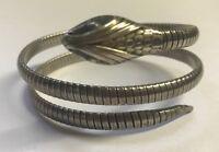 Vintage Forstner Sterling Coiled Snake Bracelet 1940s