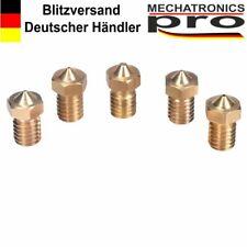 5 Stück 3D Drucker Nozzle 0.4 mm 1,75 mm Düse Gewinde M6 Extruder Hochwertig