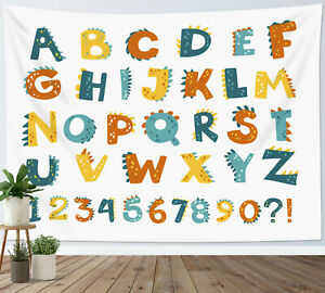 Learning Alphabet Tapestry Kids Educational Wall Hanging for Living Room Bedroom