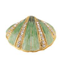 Trinket Box Hinged Small Seashell Figurine Collectible Pearl Mussel Wedding
