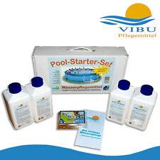 Vibu Pool-Starter-Set Wasserpflegemittel für Pools Algen Verunreinigung Garten