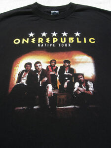 ONE REPUBLIC native 2014 tour MEDIUM concert T-SHIRT onerepublic