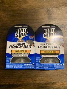 Hot Shot Ultra Liquid Roach Bait. Kills Roaches And Eggs. 6 Count Bait Stations