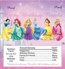15 Disney Princess Birthday Candy Bar Wrappers