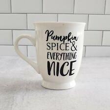 New 🎃 Nice PUMPKIN SPICE Mug by Mud Pie Halloween FALL Autumn