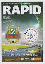 Orig.PRG  Champions League  2015/16   SK RAPID WIEN - AJAX AMSTERDAM  !!  SELTEN
