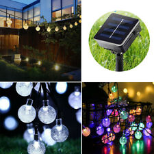 Solar Powered 30 LED String Light Garden Path Yard Decor Lamp Home Outdoor