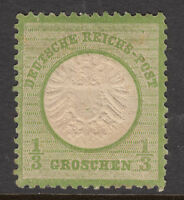 GERMANY 1872 SG 17 1/3 Gr. Type B Mint Heavy hinged No Faults Cat $100+