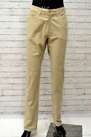 Pantalone CARRERA 700 Uomo Taglia 52 Pants Jeans Man Cotone Gamba Dritta Beige