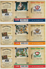 Stamps 2008 Centenary of Rugby set 3 booklet panes PHILAS LIBRARY APPEAL, scarce
