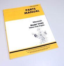 Parts Manual For John Deere Wisconsin Model Vh4d Heavy Duty Engine Catalog