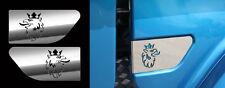 Scania cabine décorations en acier inoxydable accessoires 3 ensembles (6 pièces)