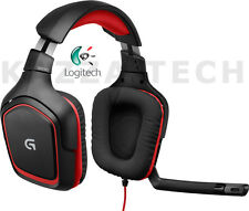 Logitech G230 Black/Red Headband Headsets for PC