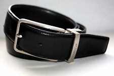"VG+ Lacoste Premium Reversible Leather Embossed Croc Belt 39"" MSRP $95.00"