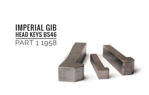 Gib Head Keys Imperial Various Profiles and Lengths