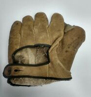 Vintage Ol Reliable  Baseball Glove horse hide signed Gordon D. Johnson 3397