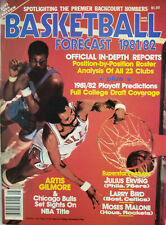 Basketball Forecast 1981-82 Magazine Artis Gilmore Julius Erving Larry Bird NoML