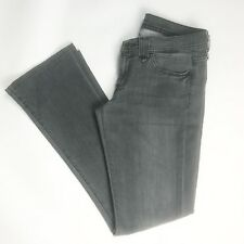 Seven For All Man Kind Women's Jeans Size 27 Gray Rocker Boot Cut Pants