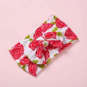 Baby Headband Nylon Girls Floral Printing Headwrap
