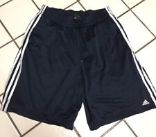 Adidas Double Mesh Basketball Work Out Fitness Sport Shorts Mens XL Black