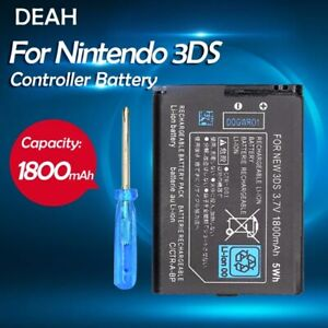 3.7V 1800mAh CTR-003 Rechargeable Li-ion Battery Pack Nintendo 3DS 2DS with Tool