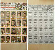 Foglio MEXICO COPA AMERICA Venezuela 2007 Stickers Extra - PANINI