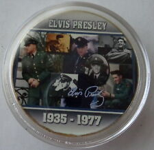 ELVIS PRESLEY THE KING OF ROCK N ROLL  24K GOLD  PLATED MEMORABILIA COIN #10s