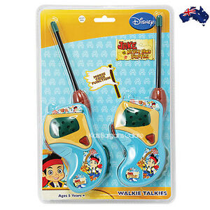 GENUINE LICENCE Jake and The Never Land Pirates Walkie Talkie wth Morse Code-AUS