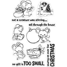 Hero Arts Poly Clear Stamp Set Christmas Mice