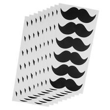 54pcs Autocollants Moustache Papier Étiquette Bricolage Vintage Décor Porte