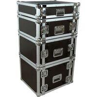 Musician's Gear Rack Flight Case 4 Spaces Black