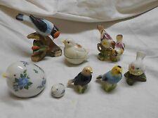 8 vintage ceramic porcelain bird figurines statues Norcrest San Francisco others