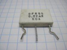 0.22Ohm x  2 ceramic emitter resistor  5W Tested p.