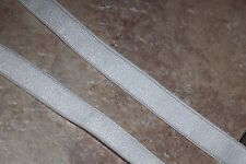 "3 yards WHITE headband lingerie bra straps stretch satin shiny elastic 1/2"" wide"