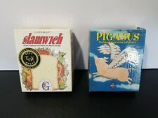 Slamwich & Pigasus Card Games COMPLETE Gamewright 94-1995 Vintage Family Fun