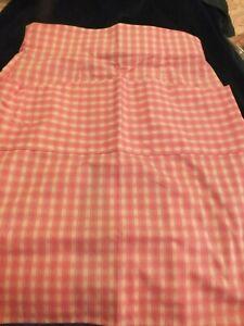 Vintage Laura Ashley Fabric -  Waist Apron - Pink Gingham