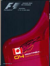 Michael Schumacher Signed Formula 1 2004 Canadian GP Program / Programme