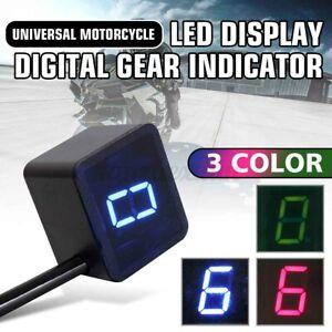 Universal Motorcycle Moto LED Digital Display Gear Indicator Shift Lever Sensors