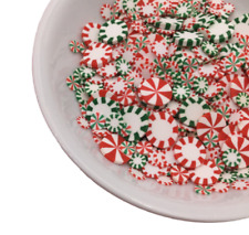 Peppermint Polymer Clay Slices, Fake Sprinkles, Jimmies, For Slime and Crafts
