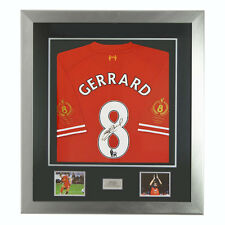 Signed Steven Gerrard Testimonial Ltd Edition 2014 Liverpool FC Shirt Deluxe