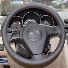 Black Leather Steering Wheel Cover for Old Mazda 3 Mazda 6 Mazda 5 2003-2009