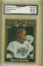 1992 Players Choice Wayne Gretzky Gold Foil # 10  GMA 8.5 NM MT+  GRADED