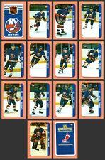 Renaissance 1982-83 Mike Bossy NY Islanders Team Set of 14 Souhaits Mini Cards
