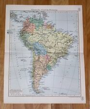 1937 ORIGINAL VINTAGE POLITICAL MAP OF SOUTH AMERICA ARGENTINA BRAZIL PERU CHILE
